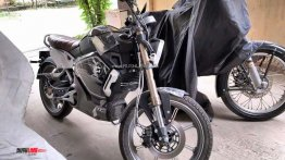 Retro-style Super Soco TC electric motorcycle spied in Noida