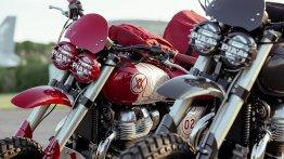Royal Enfield Interceptor 650 modified as rally-spec bikes