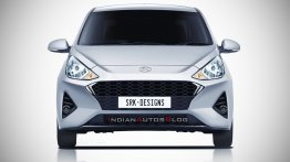 Next-gen 2020 Hyundai Xcent front - IAB Rendering
