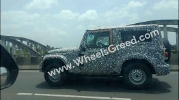 2020 Mahindra Thar hard top spied yet again