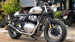 Modified Royal Enfield Interceptor INT 650 gets a pinch of cafe racer styling