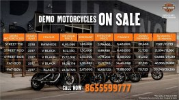 Harley-Davidson Mumbai selling demo bikes at heavy discounts
