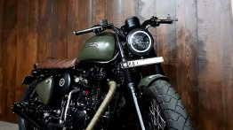Modified Royal Enfield Classic 500 Desert Storm gets a Scrambler outfit