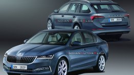 Next-gen 2020 Skoda Octavia Estate - IAB Rendering