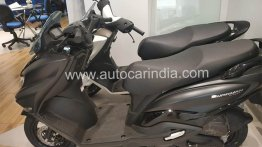 Matte Black Suzuki Burgman Street starts to arrive at dealerships