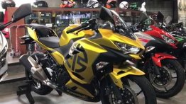Kawasaki Ninja 250 looks even better with a matte gold finish