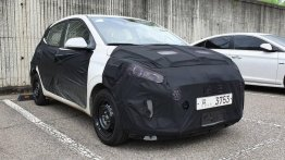 2019 Hyundai Grand i10 with projector headlamps & LED fog lamps spied