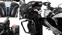 Check out the official accessories for Suzuki Gixxer 250