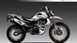 Hero XPulse 200 imagined with a bigger powerplant and cues fro Hero XF3R concept
