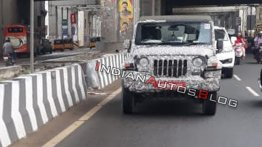 Next-gen 2020 Mahindra Thar (soft-top) spied yet again