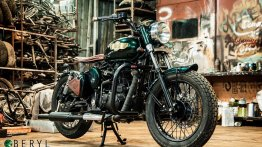 Modified Royal Enfield Classic 500 looks simple and elegant