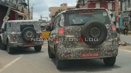 2020 Mahindra Thar hard-top spied with 2020 Mahindra TUV300 Plus