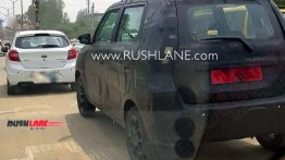 Maruti WagonR with Maruti Ignis' wheels spied on test