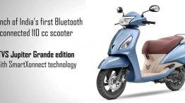 TVS Jupiter Grande स्मार्टएक्स कनेक्ट ब्लूटूथ के साथ भारत में हुई लॉन्च