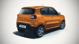 Maruti S-Presso rear-quarter - IAB Rendering