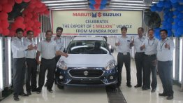 One millionth car exported by Maruti Suzuki from Mundra Port in Gujarat