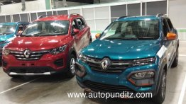 2020 Renault Kwid (facelift) sans camouflage for the first time