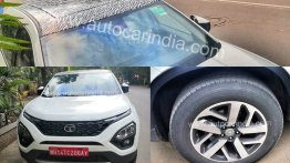 Tata Harrier with panoramic sunroof & 18-inch wheels spied for the first time