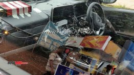 Tata Buzzard interior spied, roof spoiler revealed
