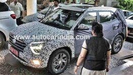 2020 Hyundai Creta shows its front fascia in India