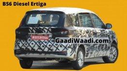 पहली बार तस्वीरों में कैद हुई Maruti Ertiga (बीएस-6) डीजल