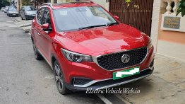 Indian-spec production MG ZS EV snapped ahead of unveiling this week