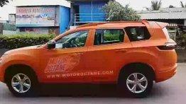 Tata Gravitas with orange body wrap snapped on test
