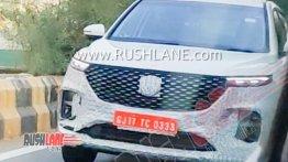 MG Hector Plus (6-सीटर) अहमदाबाद में हुई स्पॉट, इस नए फीचर से होगी लैस