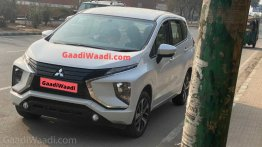Mitsubishi Xpander (Maruti Ertiga rival) spied in India for the first time