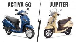 BS-VI Honda Activa 6G vs. BS-VI TVS Jupiter - Specs, Features & Prices compared