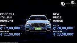 भारत में लॉन्च हुई MG ZS EV इलेक्ट्रिक, प्राइस 19.88 लाख से शुरू