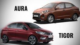 Hyundai Aura vs. 2020 Tata Tigor - Specs, features and prices compared