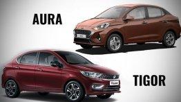 Hyundai Aura बनाम Tata Tigor- स्पेक, फीचर और प्राइस, कौन है दमदार?