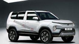 Production Tata Sierra EV with sliding rear doors - IAB Rendering