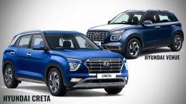 Hyundai Venue बनाम 2020 Hyundai Creta- दोनों में 3 लाख रूपए का अंतर क्यों?