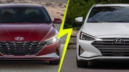 2021 Hyundai Elantra बनाम 2019 Hyundai Elantra: फीचर्स और डिजाइन