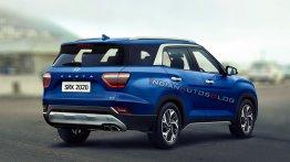 7-seat Hyundai Creta rear three quarters - IAB Rendering