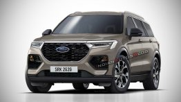 Next-gen 2021 Ford Endeavour imagined - IAB Rendering