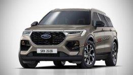 रेंडर इमेजः कैसा होगा 2021 Ford Endeavour न्यू जेनरेशन का डिजाइन?