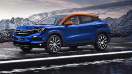 Honda ZR-V imagined as a Jeep Compass rivaling compact SUV