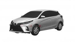 2021 Toyota Yaris (फेसलिफ्ट) हैचबैक की पेटेंट इमेज लीक