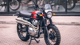 Royal Enfield Interceptor 650 modified into a rugged scrambler by Moto Classic House