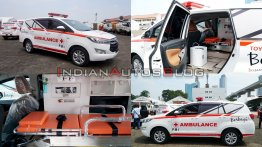 Toyota Innova Ambulance modified MPV donated for fighting COVID-19 outbreak