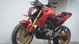 Yamaha V-Ixion modified to replicate KTM 390 Duke