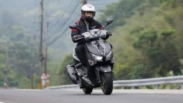 New Yamaha Cygnus-X 125 with drive recorder spotted testing