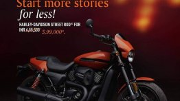 2020 Harley-Davidson Street Rod available at a flat discount of INR 55,500