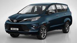 2021 Toyota Innova Crysta facelift - IAB Rendering