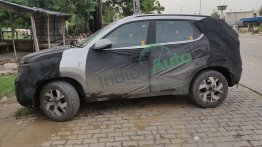 Kia Sonet spotted testing ahead of its global debut in India next month