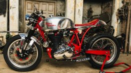 Royal Enfield Classic 500 transformed into a 180 kmph lustrous cafe racer