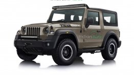 New Mahindra Thar Looks Brute With Jeep Grille & Off-road Tyres